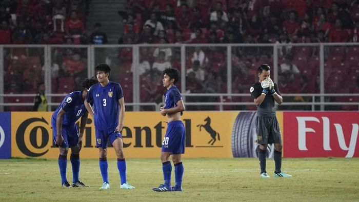 Thailand tersingkir di perempatfinal Piala Asia U-19 usai kalah 3-7 dari Qatar. (Foto: AFC)