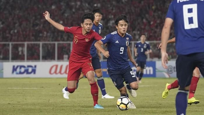 Timnas Indonesia ditaklukkan Jepang 0-2 di perempatfinal Piala Asia U-19 2018. (Foto: AFC Media)