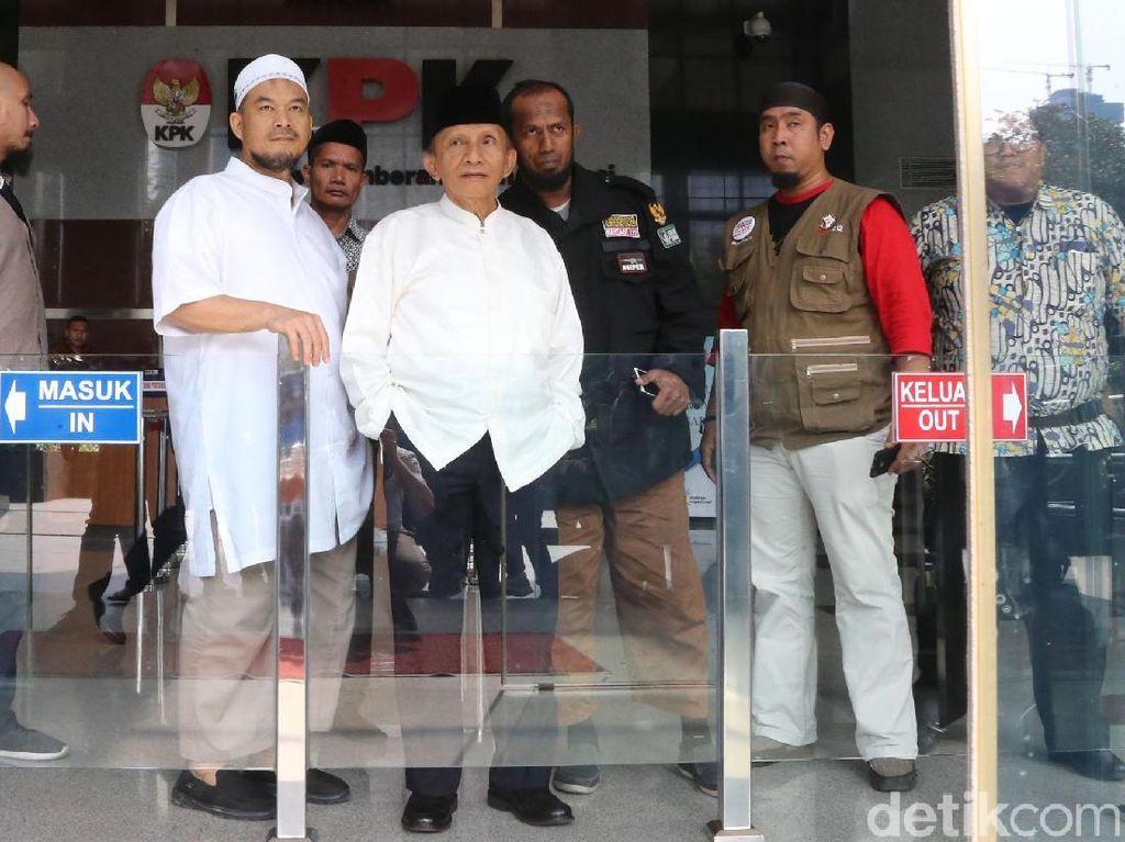 Tak Ditemui Ketua KPK, Amien Rais Langsung Pulang