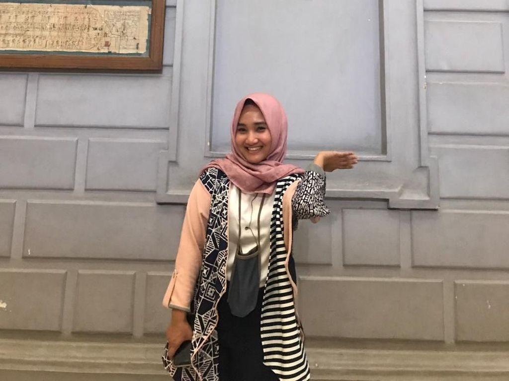 Keseruan Fatin saat Kunjungi Museum di Kairo