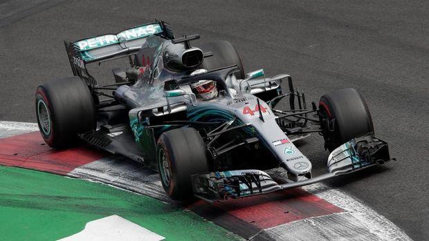 Finis di posisi keempat F1 GP Meksiko sudah cukup bagi Lewis Hamilton untuk memastikan gelar juara dunia kelima.