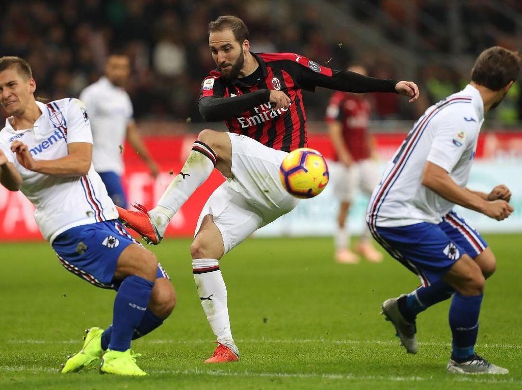 Hasil Milan vs Sampdoria: Rossoneri Menang 3-2 di San Siro