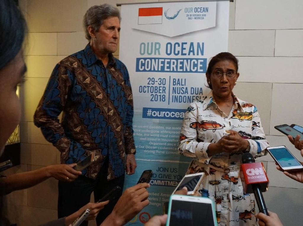 Puja-puji John Kerry buat Jokowi dan Susi soal Masa Depan Laut