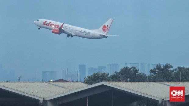 Pesawat Lion Air di terminal 1 B Bandara Soekarno Hatta, Cengkareng ( 29/10).
