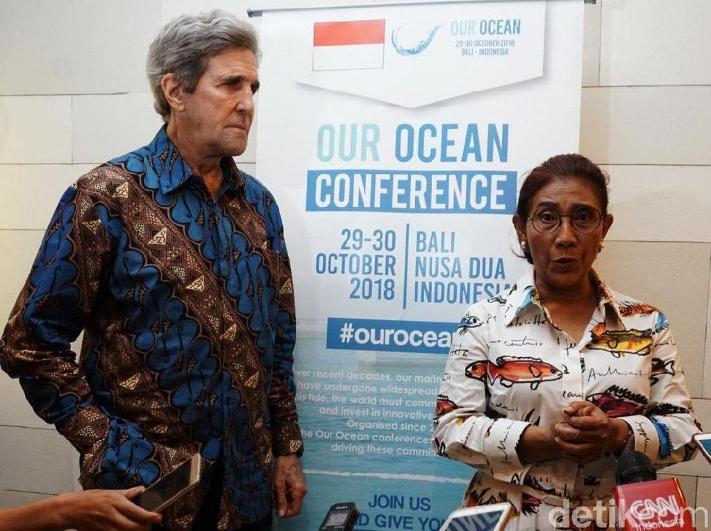 Momen Eks Menlu AS Puji Jokowi dan Susi di Konferensi Laut Dunia