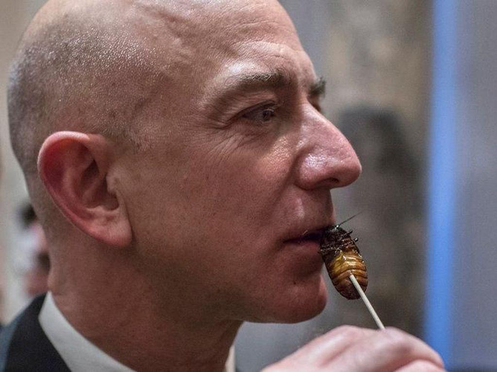Begini Gaya Orang Terkaya di Dunia Saat Makan Kecoa hingga Iguana