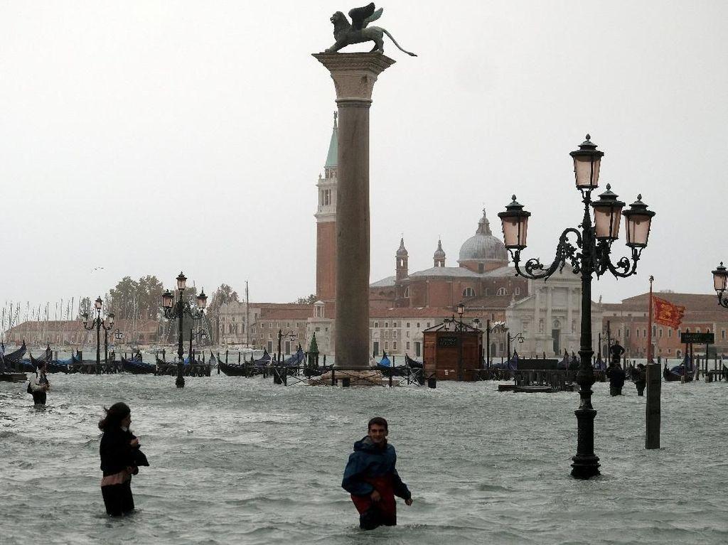77 Persen Kota Apung Venesia Kebanjiran, Terburuk dalam 10 Tahun
