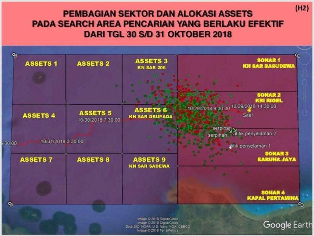 Ini Peta Lokasi Pencarian Pesawat Lion Air JT 610