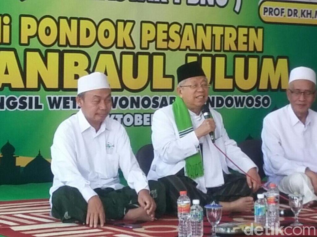 Di Bondowoso, Maruf Amin: Perlu Segera Ada UU Pesantren