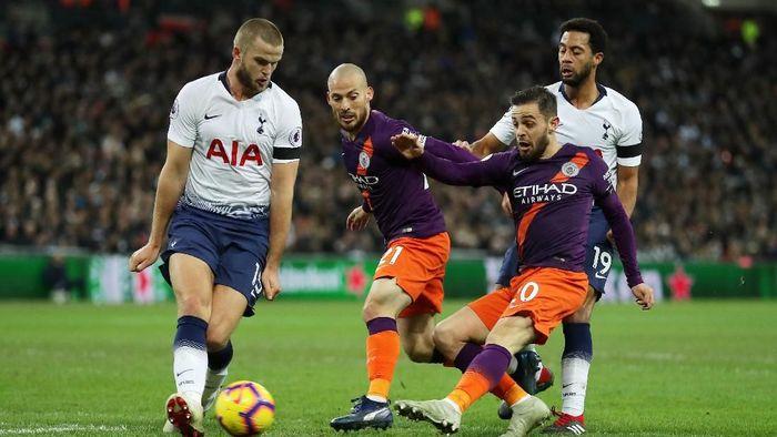 Tottenham Hotspur dan Manchester City bertemu di perempatfinal Liga Champions (Richard Heathcote/Getty Images)