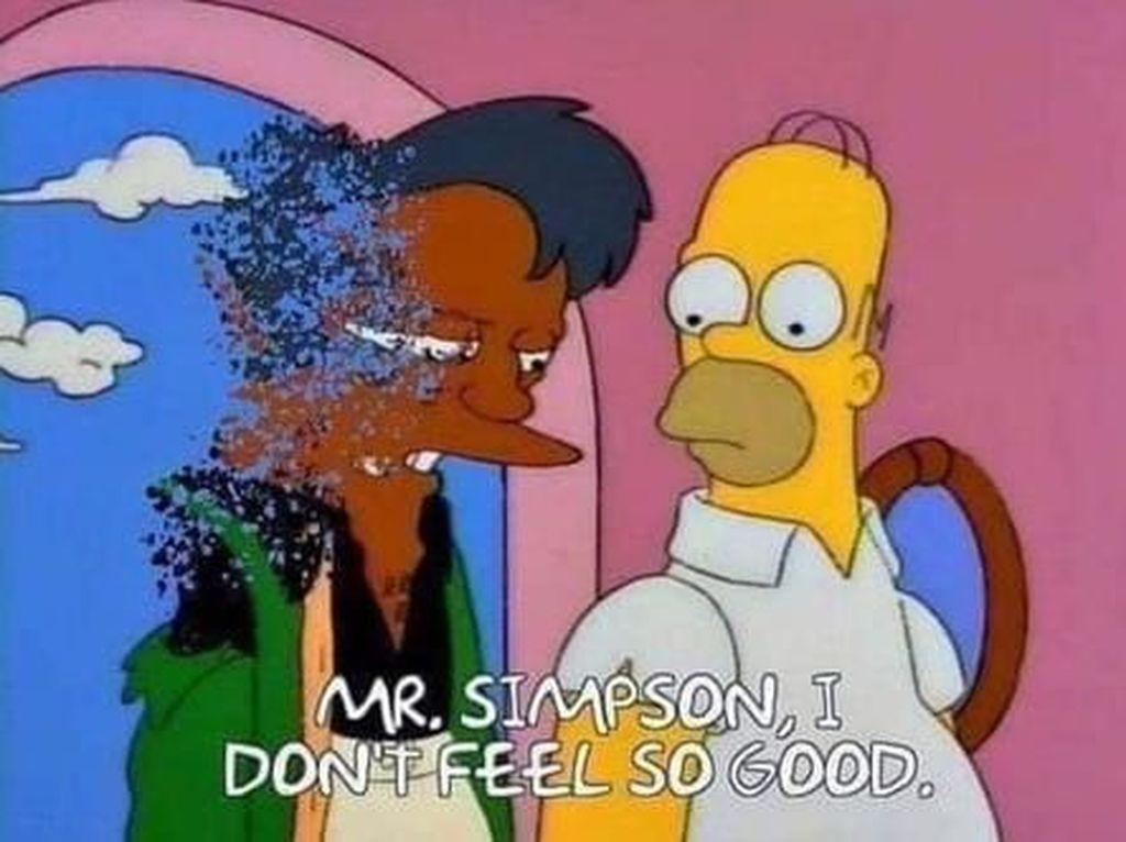 Meme Lucu Meminta Apu Kembali di The Simpsons