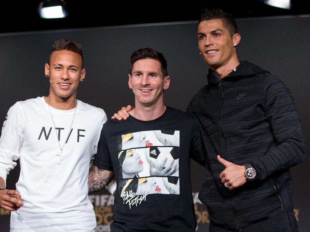 Neymar Terus Belajar dari Messi dan Ronaldo