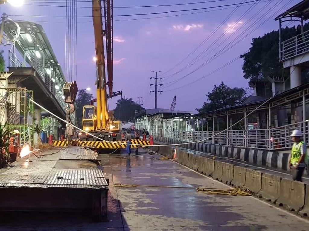 JPO Jembatan Gantung Jakbar Dibongkar, Dibangun Ulang November