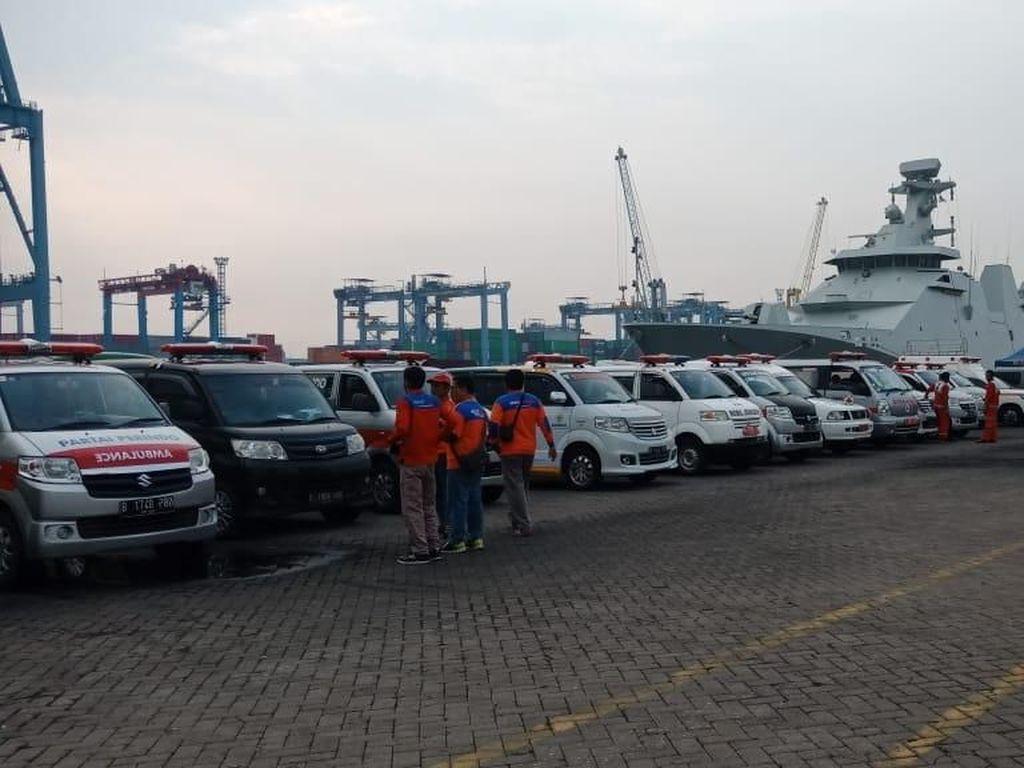 Pencarian Lion Air JT 610 Dilanjutkan, Ambulans Siaga di Priok