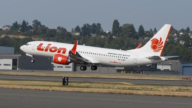 Lion Air memiliki sejumlah pesawat Boeing jenis 737 Max-8.