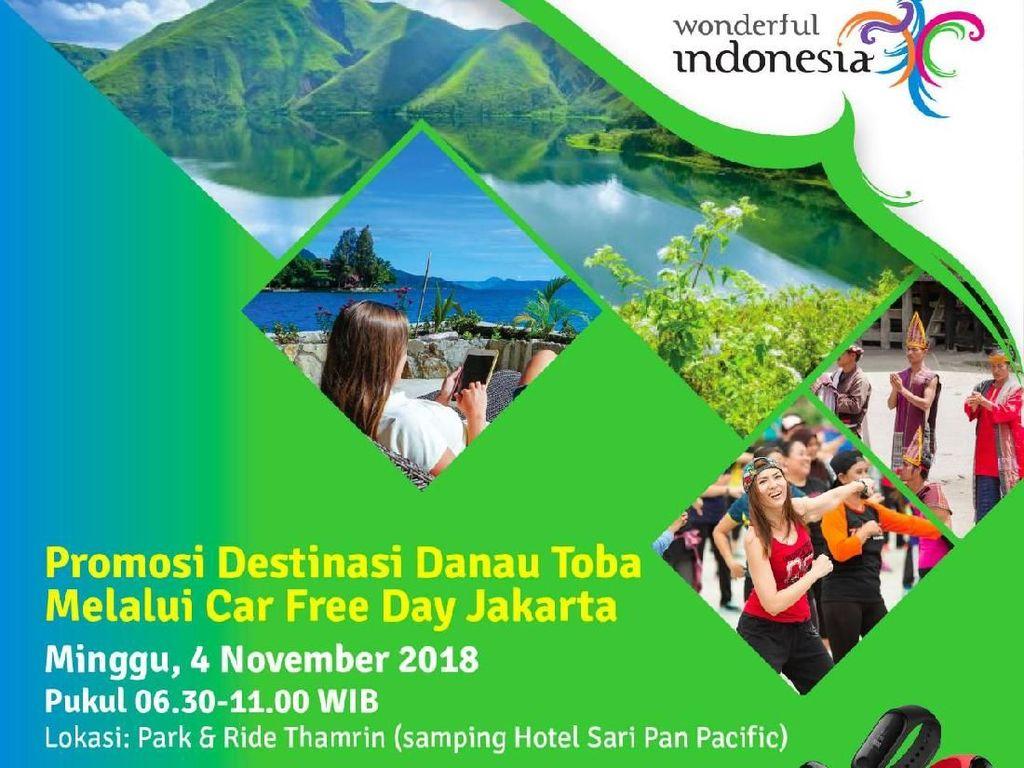 Mulai Pekan Ini, Ada Pesona Danau Toba di Car Free Day Jakarta