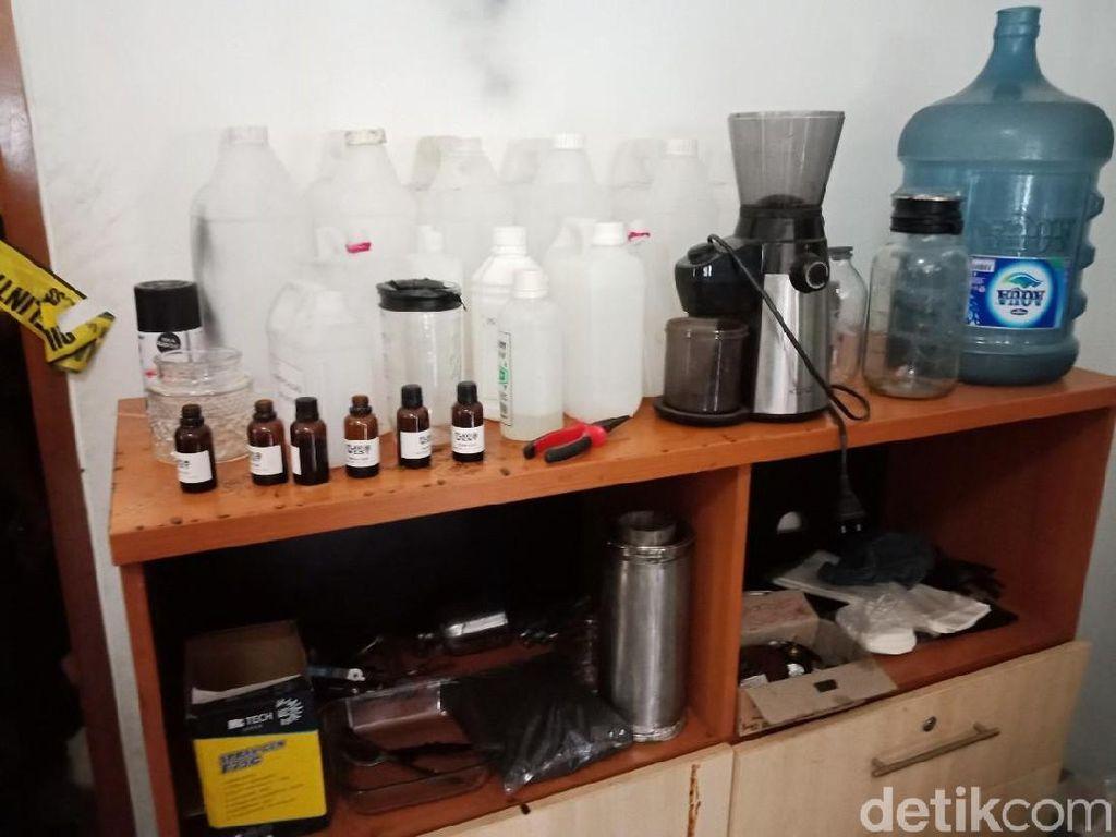 Produksi Liquid Vape Ekstasi Rumahan Dibongkar Polisi