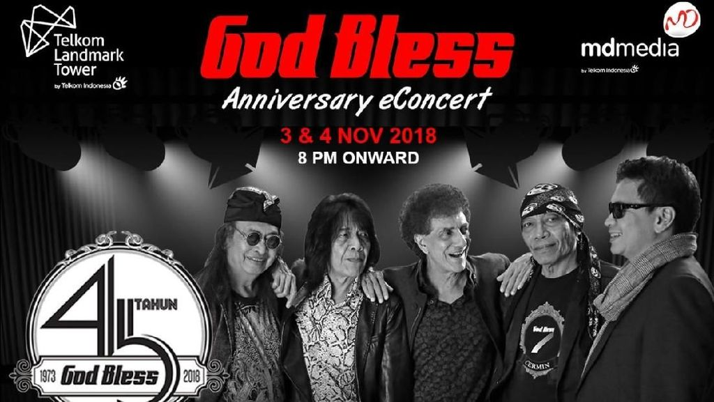 Konser Anniversary ke-45 God Bless Digelar Malam Ini!