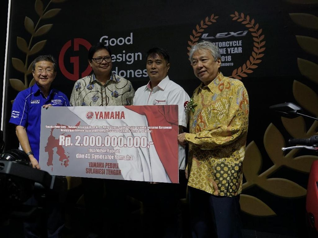 Yamaha Donasikan Rp 2 M dan 40 Generator untuk Korban Gempa Sulteng