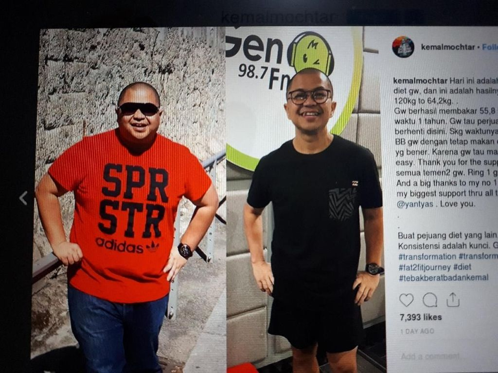 Sukses Turunkan Berat Badan 56 kg, Ini Pola Makan Kemal Mochtar