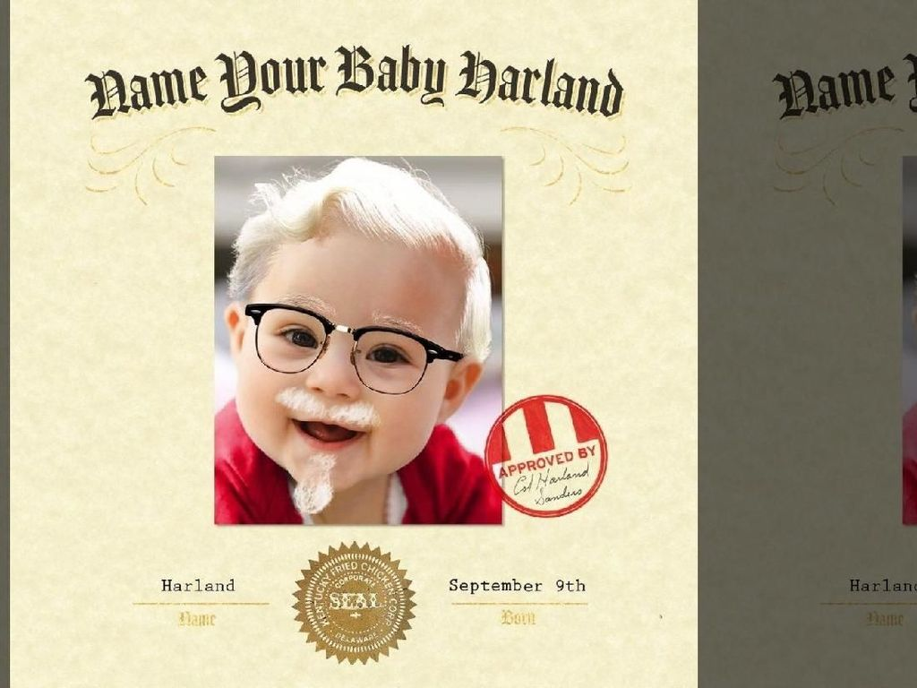 Ini Dia Baby Harland yang Dapat Rp 161 Juta dari KFC!