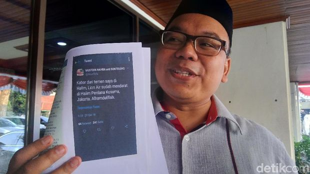 'Lion Air Mendarat di Halim', Kode Mustofa Nahra Jadi Kontroversi
