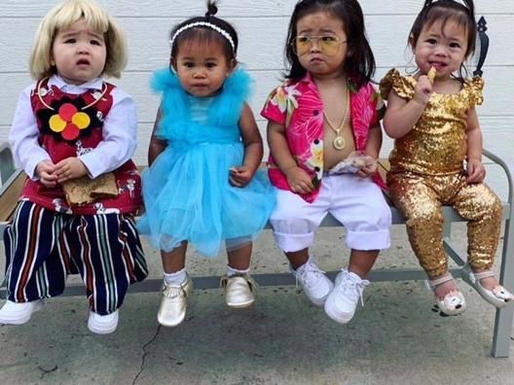 Imut Banget, Balita Pakai Kostum Halloween ala Crazy Rich Asians