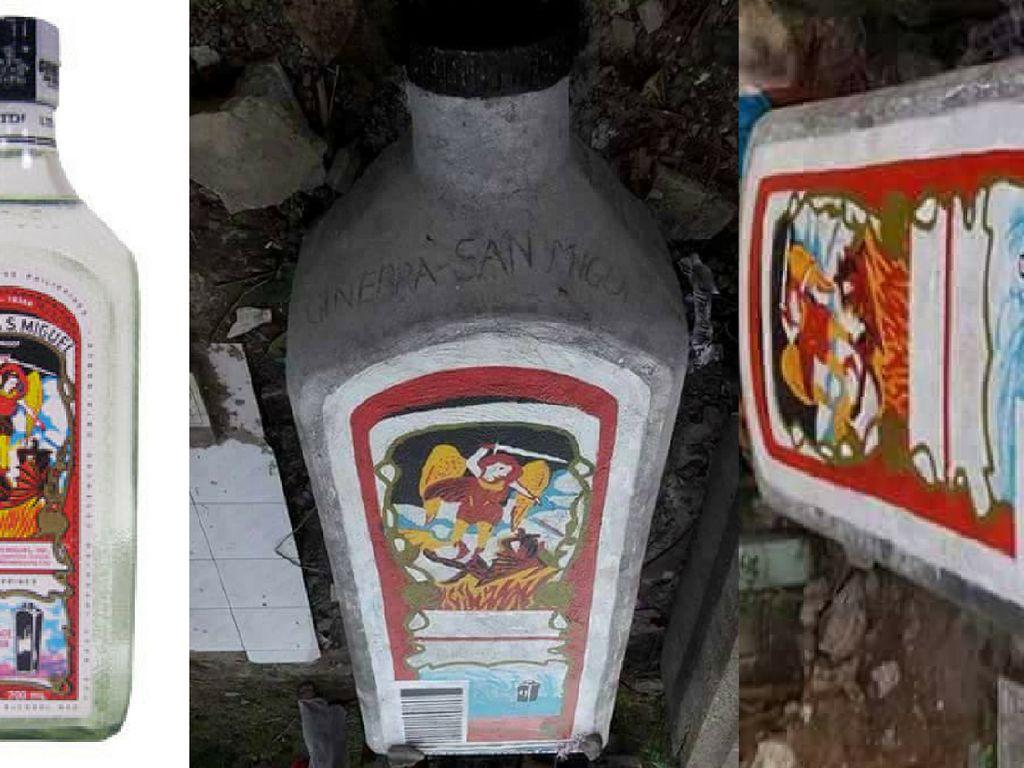 Hobi Minum Semasa Hidup, Pria Ini Makamnya Bentuk Botol Gin