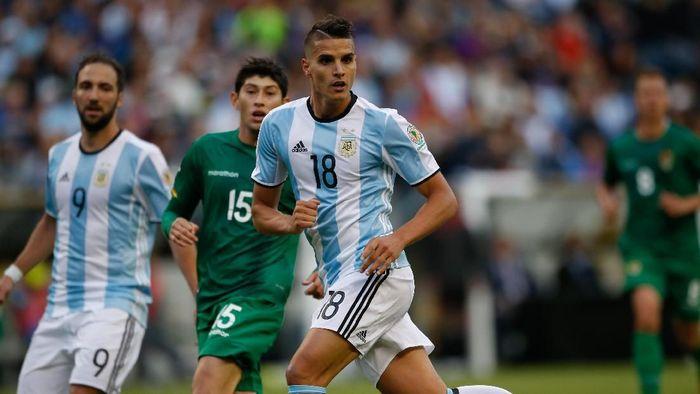 Erik Lamela kembali ke timnas Argentina setelah dua tahun absen (Otto Greule Jr/Getty Images)