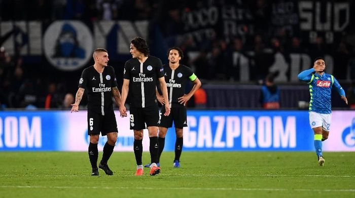 PSG mesti menang di kandang Napoli dalam lanjutan Liga Champions. (Foto: Justin Setterfield/Getty Images)