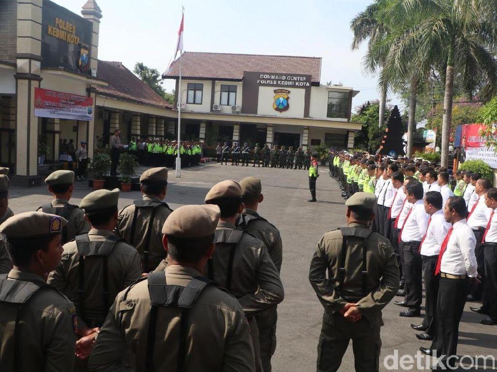 Amankan Pilkades Serentak, Polresta Kediri Terjunkan 674 Personel