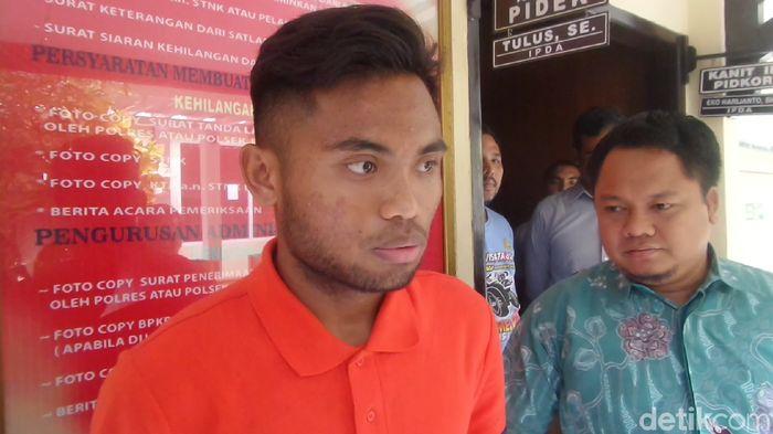 Saddil Ramdani di Mapolresta Lamongan, Jumat (2/11).
