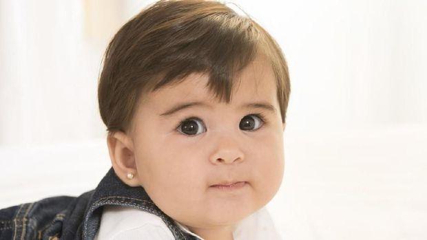 Ilustrasi rambut bayi lebat