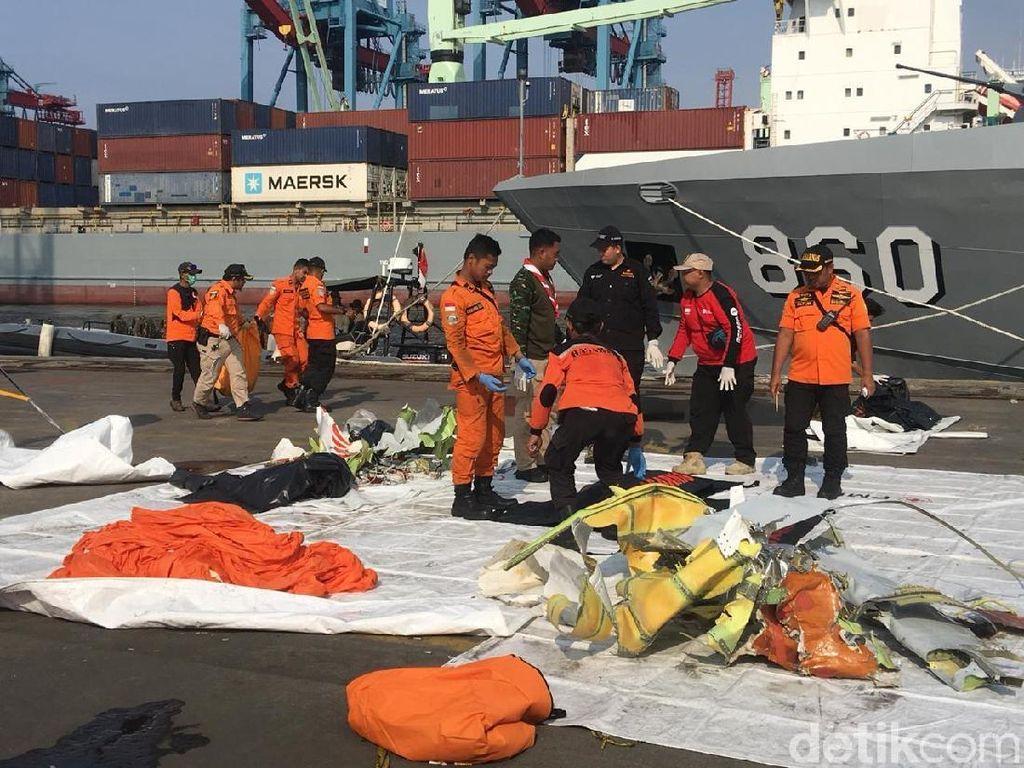 2 Kantong Jenazah Korban Lion Air Tiba di JICT Tanjung Priok