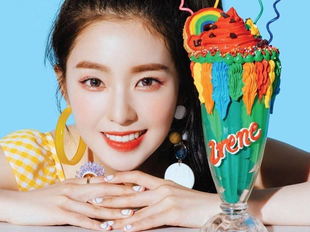 Cantiknya Irene Red Velvet Saat Nikmati Churros dan Milkshake