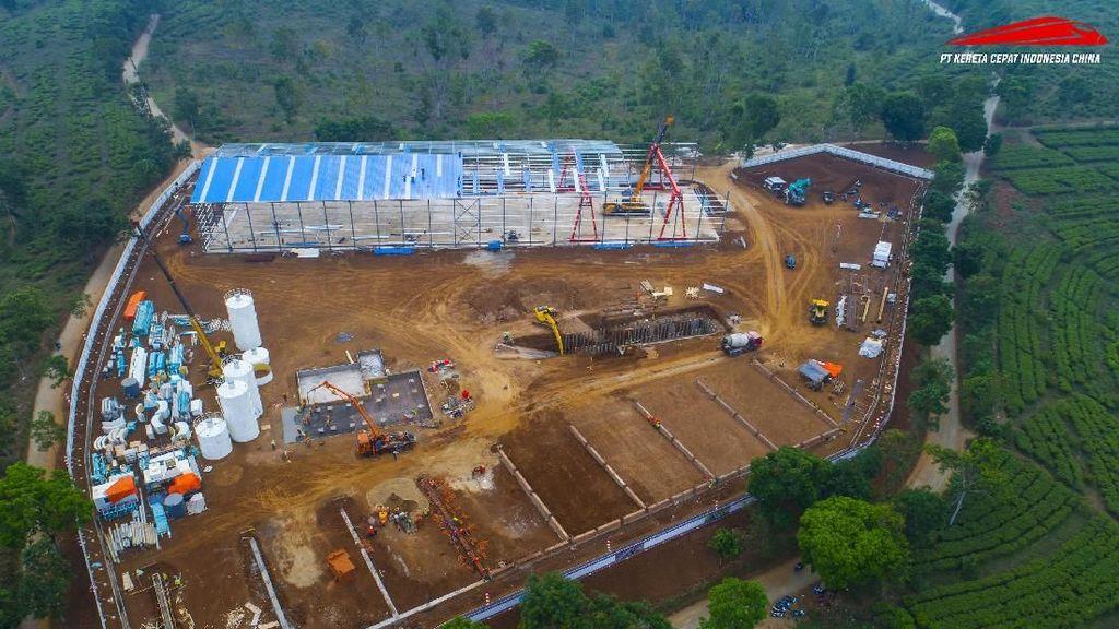 Ini Dia Tempat Produksi Beton Kereta Cepat JKT-BDG
