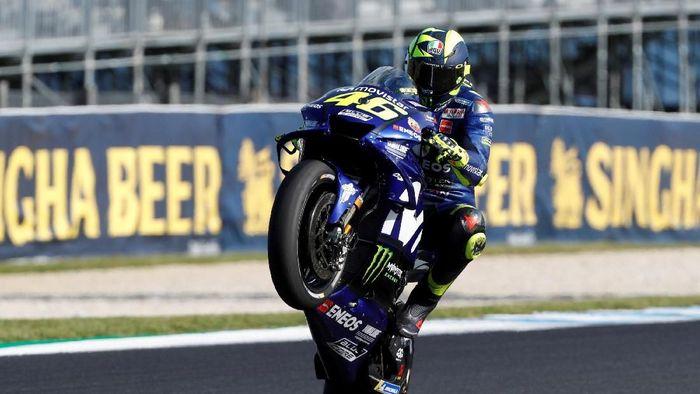 Valentino Rossi akan berusia 40 tahun di musim MotoGP 2019. Foto: Brandon Malone/Reuters