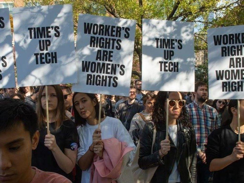 Protes Pelecehan Seks, Staf Google Seluruh Dunia Lakukan Aksi Mogok