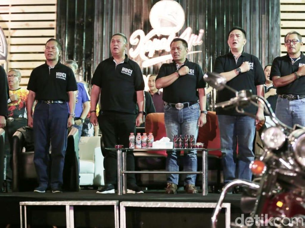 Sambangi Surabaya, Klub Harley Davidson Gelorakan Tertib Lalin