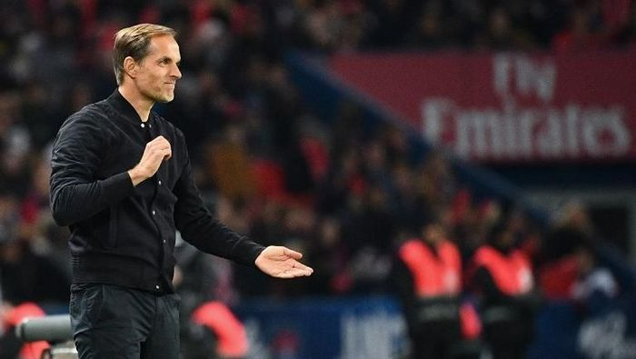 Paris Saint-Germains German coach Thomas Tuchel reacts during the French L1 football match between Paris Saint-Germain (PSG) and Lille (LOSC) at the Parc des Princes stadium, in Paris, November 2, 2018. (Photo by FRANCK FIFE / AFP)