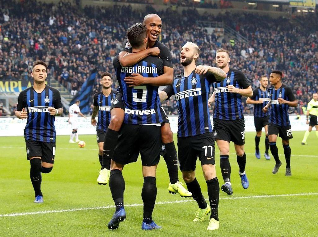 Hasil Liga Italia: Inter Milan Libas Genoa 5-0