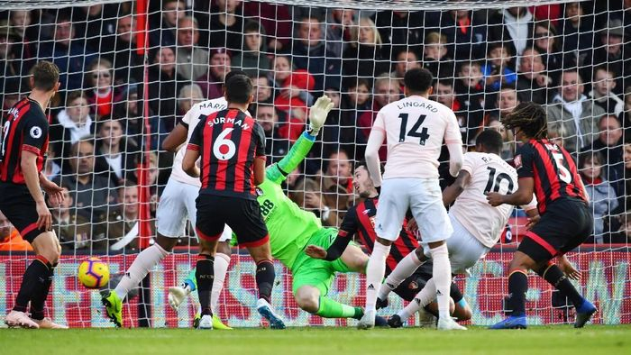 Manchester United menang 2-1 atas AFC Bournemouth. (Foto: Dylan Martinez/Reuters)