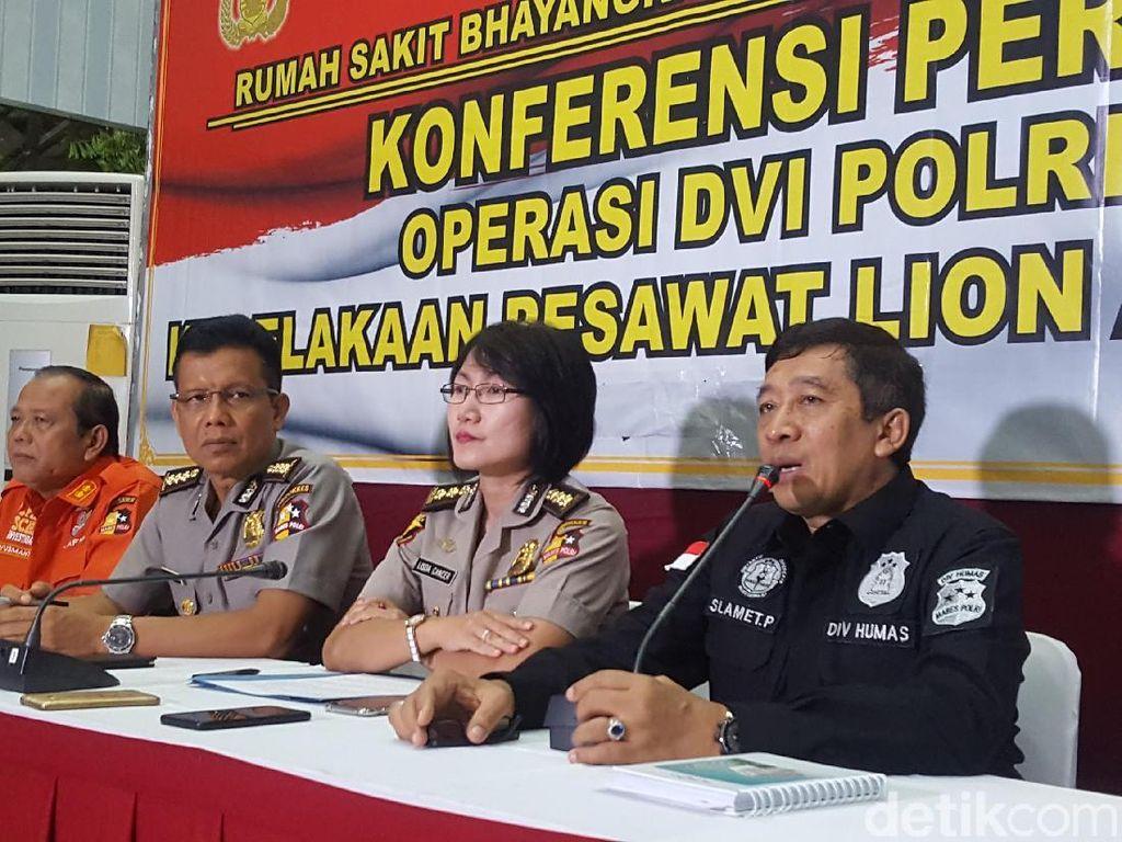 Tim DVI RS Polri Lanjutkan Identifikasi Korban Lion Air