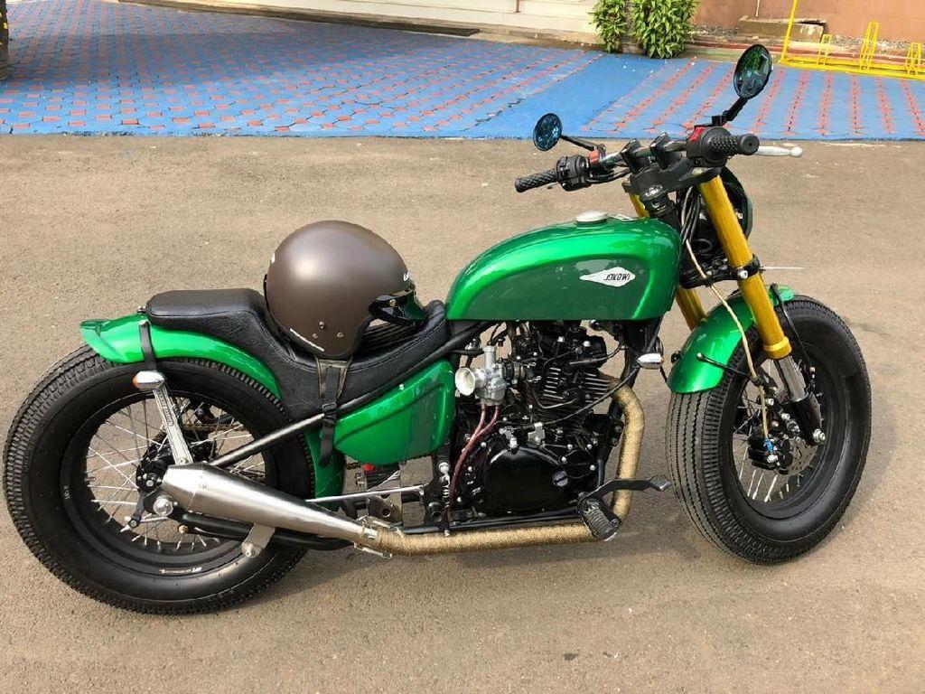 Ini Motor Modifikasi yang Ditunggangi Jokowi ke Pasar