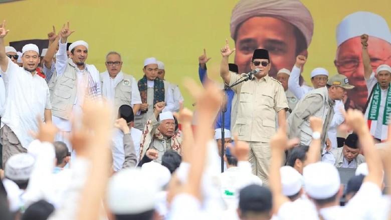 Prabowo Kembali Janji Jemput Habib Rizieq Jika Terpilih Presiden