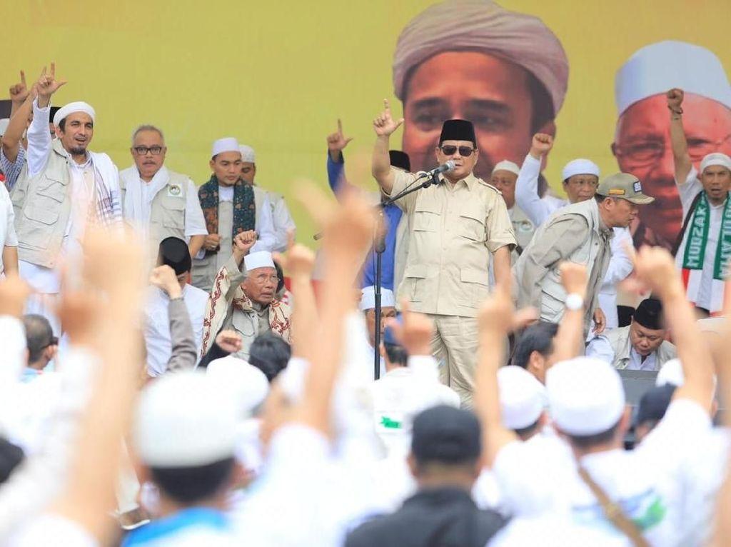 Hadiri Deklarasi Koppasandi, Prabowo: Terima Kasih Habib Rizieq!