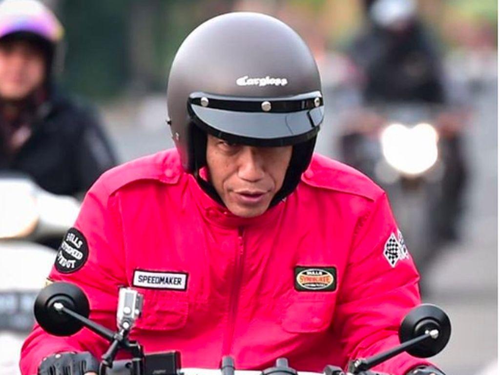 Hati-hati! Merek Helm Retro yang Dipakai Jokowi Banyak Dipalsukan