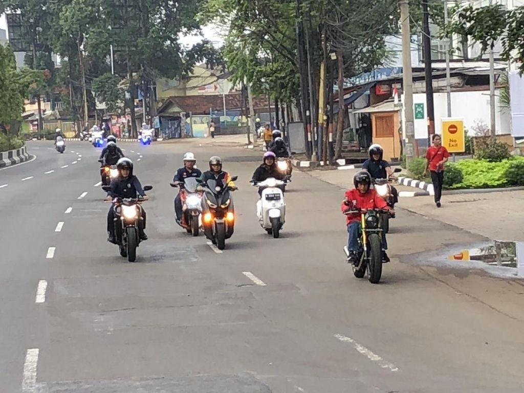 Melihat Lagi Sunmori Jokowi, Kok Lampu Depan Motornya Mati?