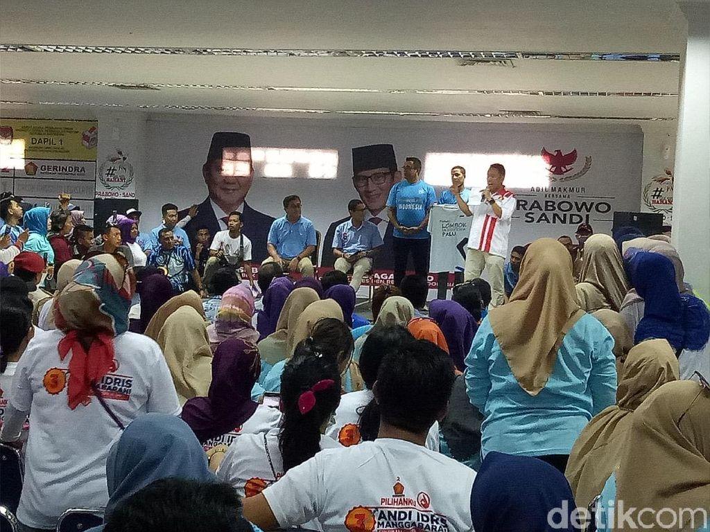 Kampanye di Makassar, Sandiaga Tegaskan Fokus Perbaikan Ekonomi