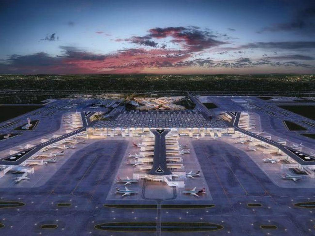 Megahnya Bandara Baru Turki yang Diresmikan Erdogan